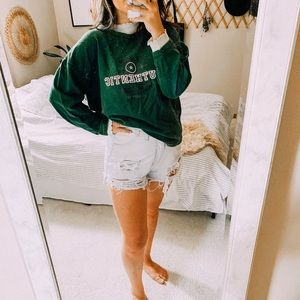 Vintage graphic oversized sports sweatshirt tee